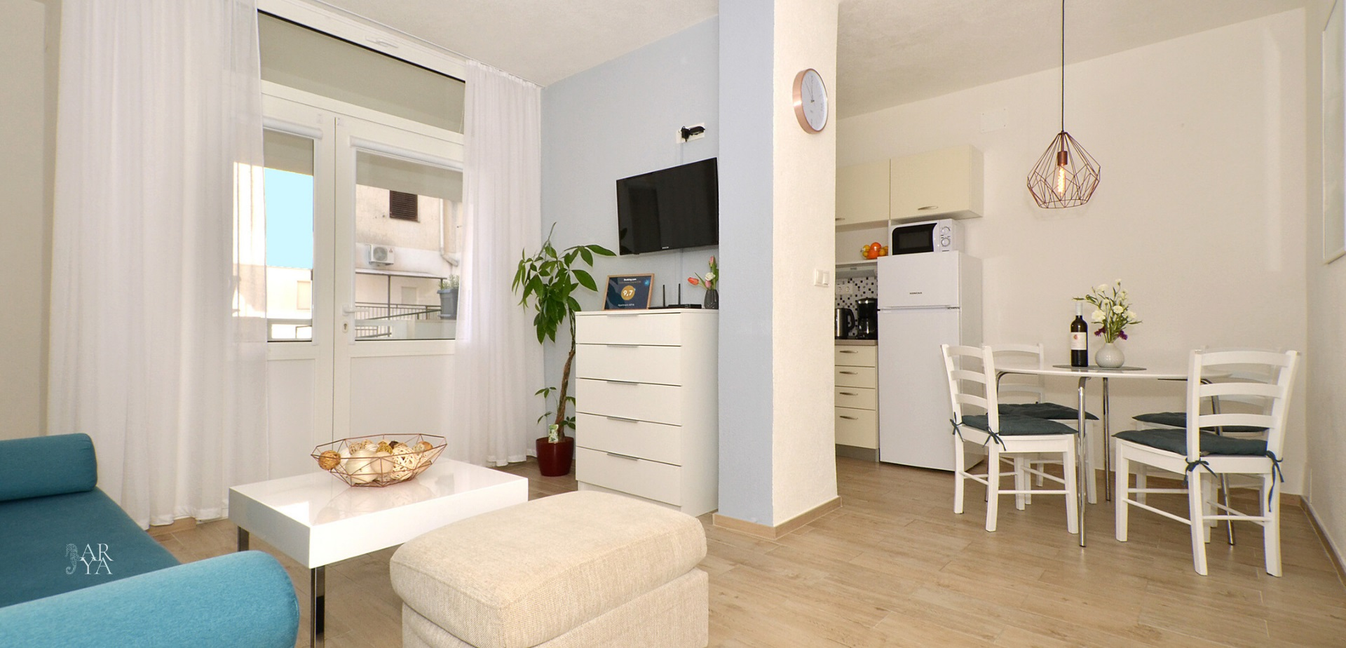 apartment arya makarska accommodation croatia 1 living room